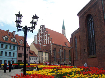 Riga, Latvia town hall square