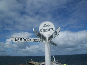 "John O""Groats sign"