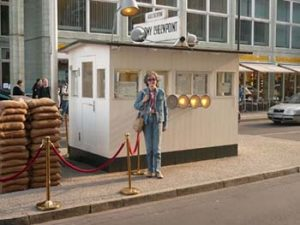 The author at Checkpoint Charlie
