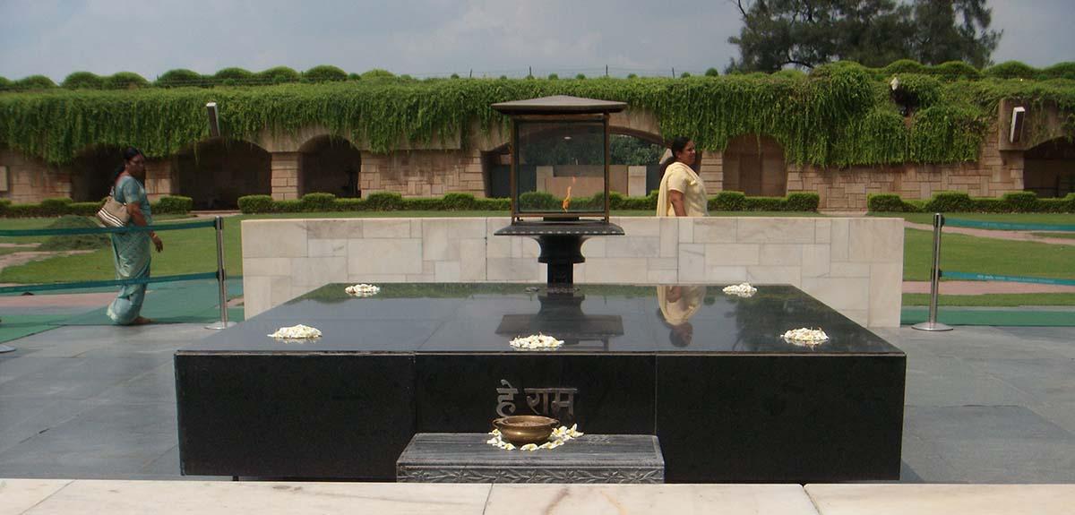 Raj Ghat Ghandi eternal flame