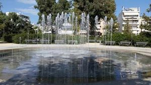 Fountain and picnic grounds
