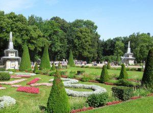 Roman fountains Peterhof Lower Park