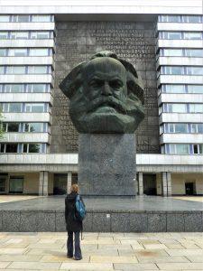 Marx head statue Chemnitz