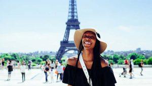 woman traveler in paris