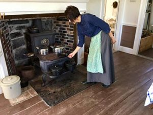 old fashioned woodstove