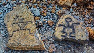 2 Hawaiian petroglyphs