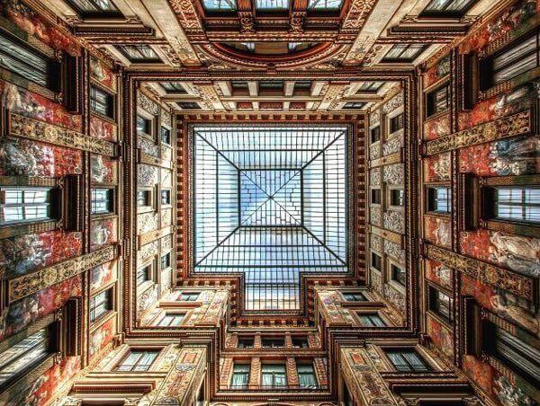 Sciarra Gallery ceiling