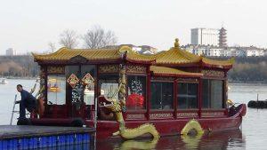 boat on lake Xuanwu