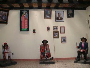 Mannaquins in museum of ceremonial masks
