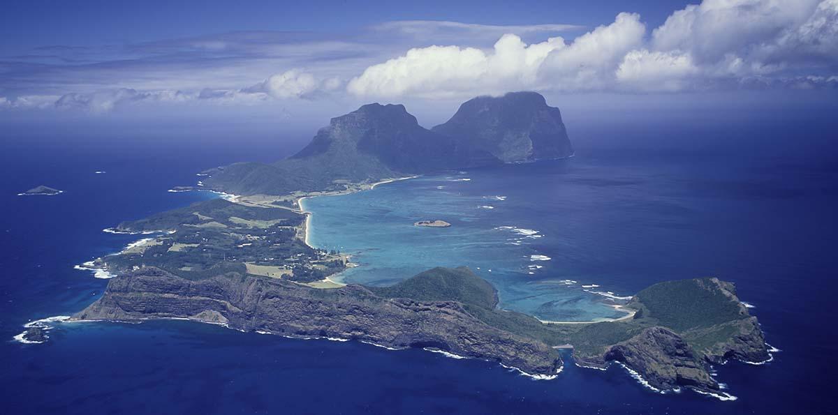 Lord Howe Island aerial view
