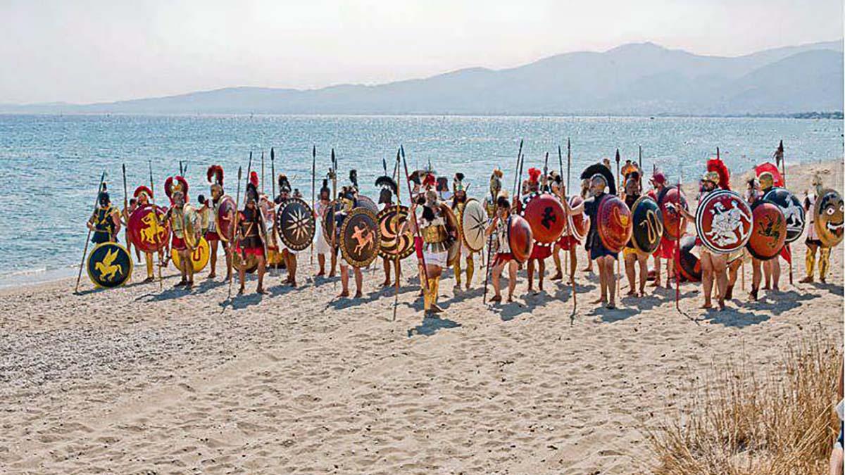 Re-creation of Battle of Marathon