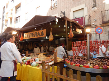 Orihuela market stall