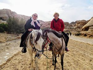 The author on horseback at Petra