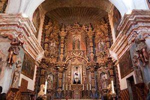 San Xavier mission interior