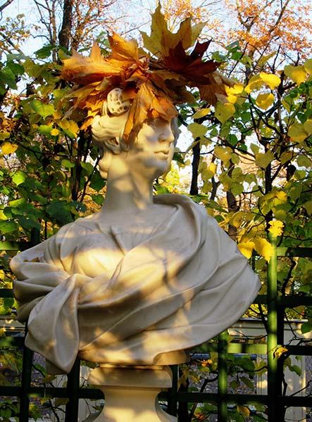 Bust in Summer Garden