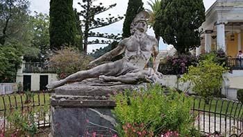 Statues at Achilleion