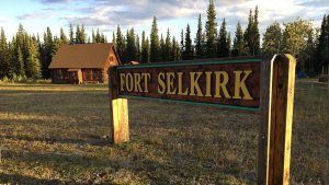 Fort Selkirk Yukon sign