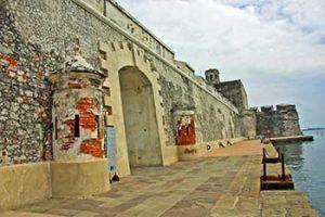 Muro de las Argollas at the Fuerte de San Juan de Ulua
