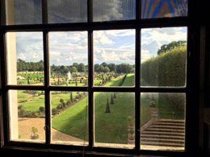 View through window of Privy Garden