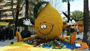 lemon in parade float