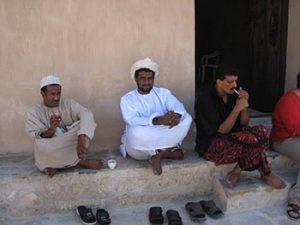 Omani men at souk