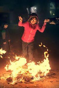 jumping through fire