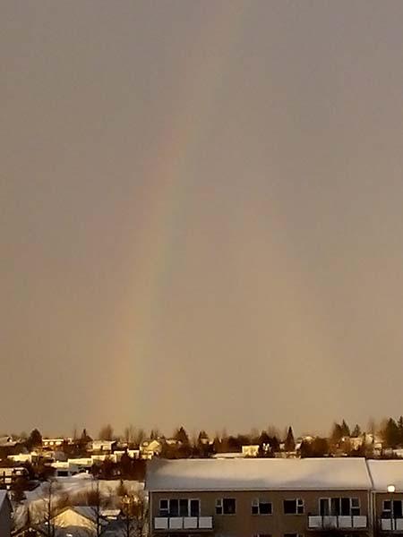 rainbow and aurora
