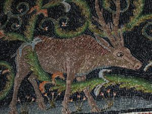 Mosaic of deer in Ravenna