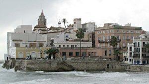 seawall Sitges Spain