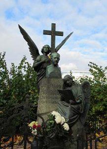 tombstone of Tchaikovsky
