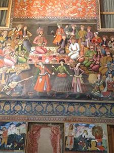 wall painting of palace life