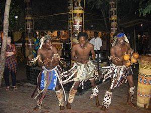 tribal dancers entertain