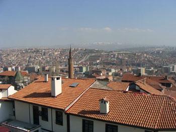 Ankara Turkey rooftops