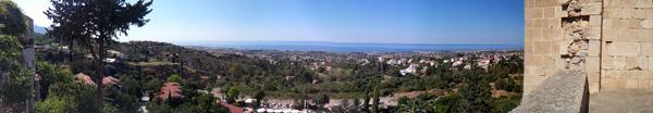Bellapais Abbey panorama