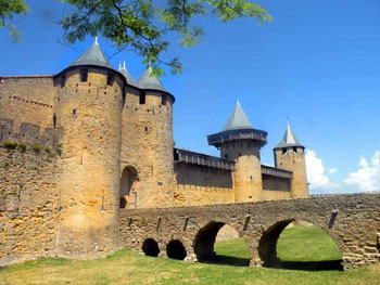 Carcassonne towers and wall