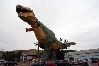 Dinosaur model in Drumleller Alberta