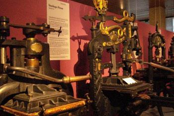 printing press in Gutenberg museum