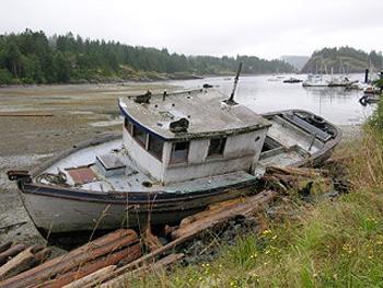 boat on Quadra Island