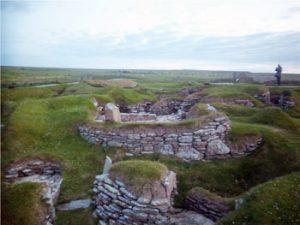 stone ruins at Skara Brae