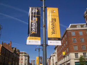 Tour de France banners in Leeds, Yorkshire