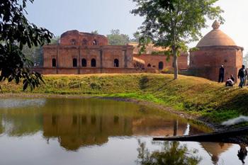 monastery near Brahmaputra river