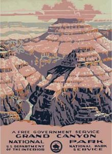 Grand Canyon vintage travel poster