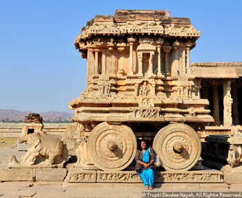 Chariot stone sculpture at Vittala Temple