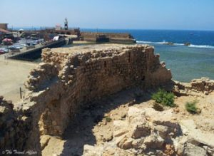 Acre is a walled, port city