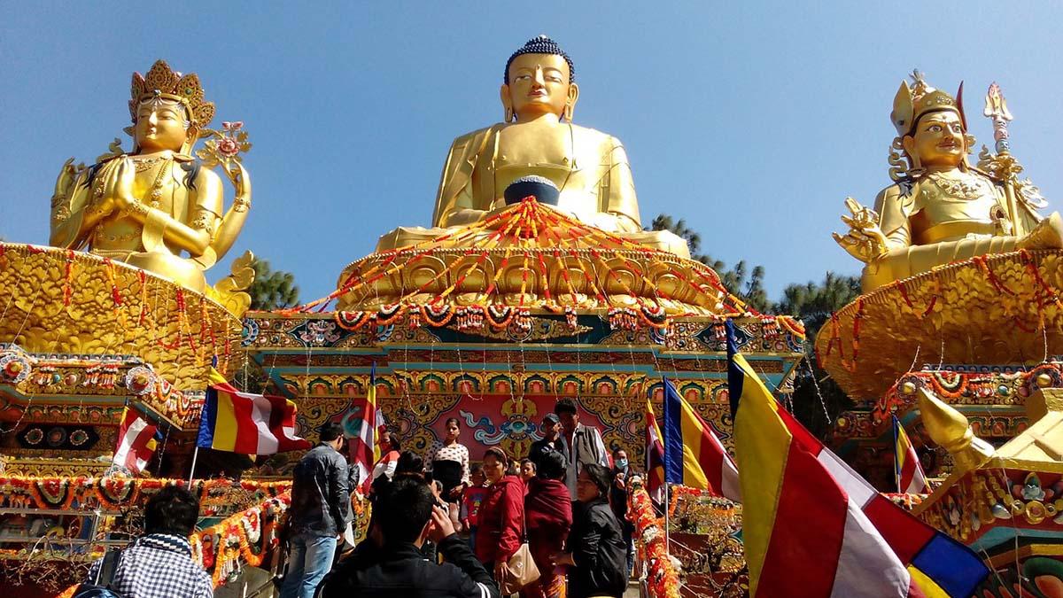 Buddha statues in Kathmandu