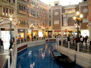 Venetian canal in Macau