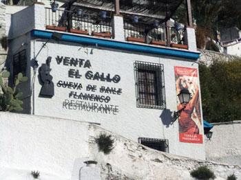 flamenco cave restaurant, Granada