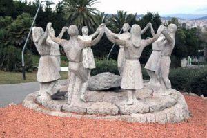 sculpture of dancers