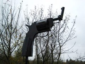 statue of twisted pistol