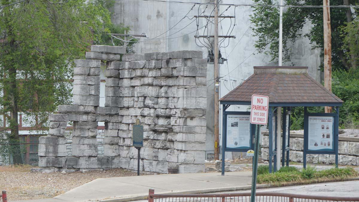remains of Military Prison, Alton, Illinois
